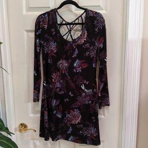 Mudd Women's Midi Long Sleeve Dress NWT